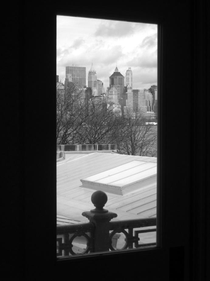 Vue de Manhattan depuis Ellis Island