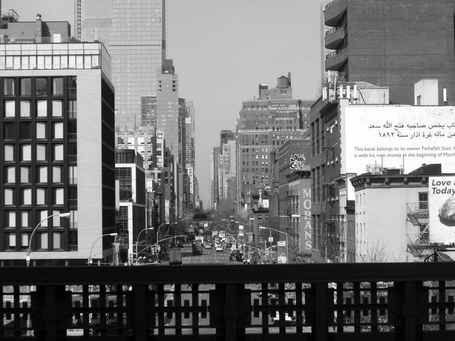 Rue depuis l'un des ponts de la High Line