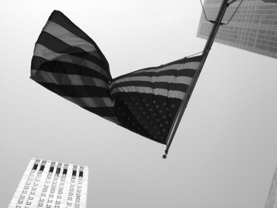 Drapeau américain sur la 5e avenue