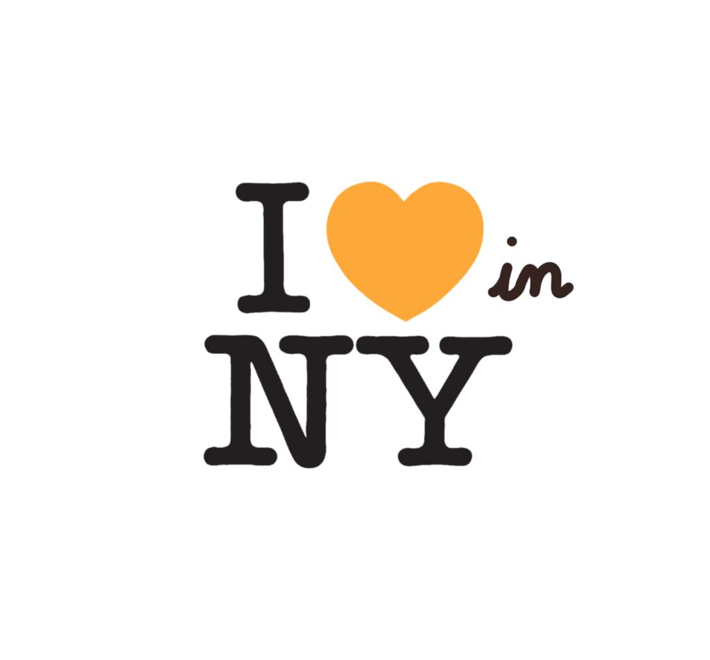 logo 'I love NY' altéré en 'I love in NY'