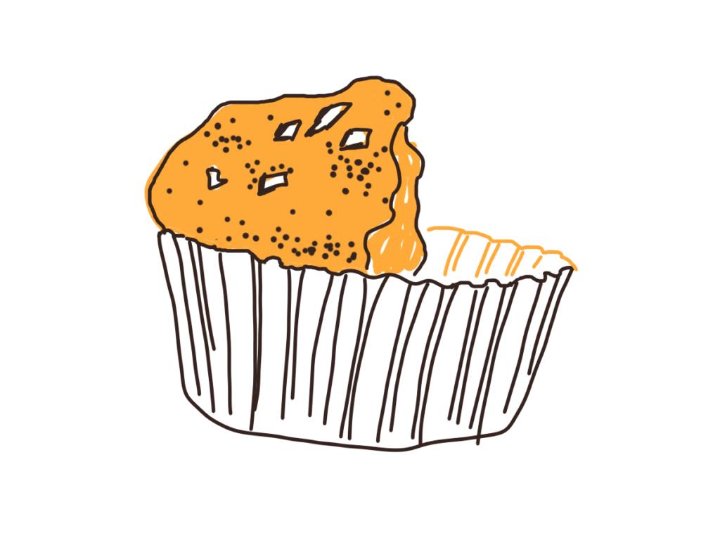 Dessin d'une moitié de muffin