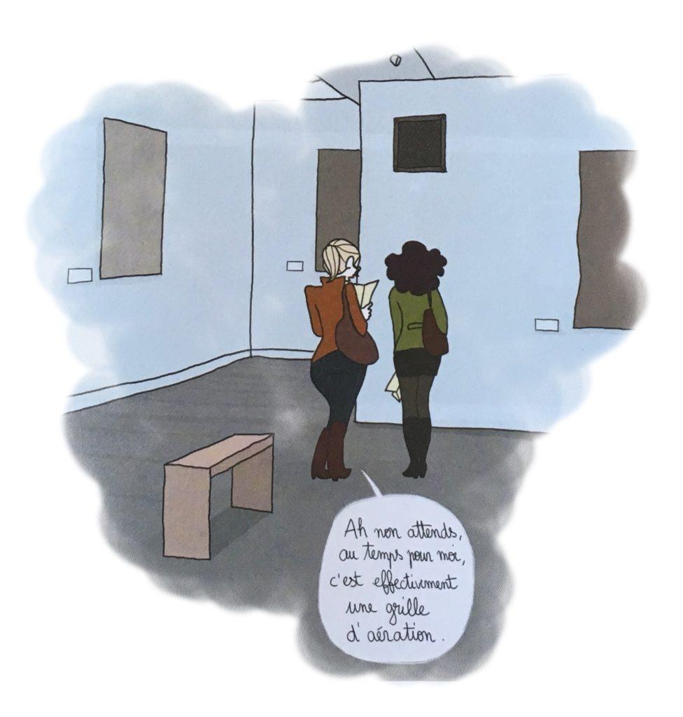 """2 filles dans un musée """"autant pour moi, c'est bien une grille d'aération"""""""