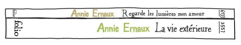 Regarde les lumières mon amour, et La Vie extérieure, d'Annie Ernaux