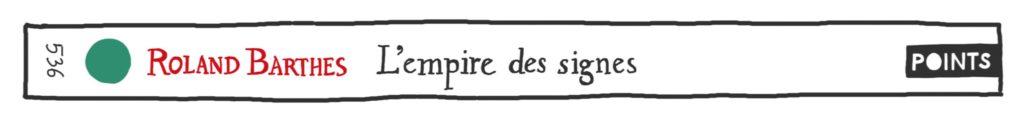 L'Empire des signes, de Roland Barthes, en Points Seuil