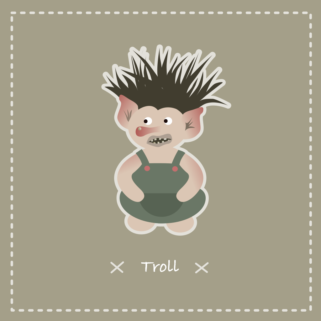 Illustration vectorielle d'un troll