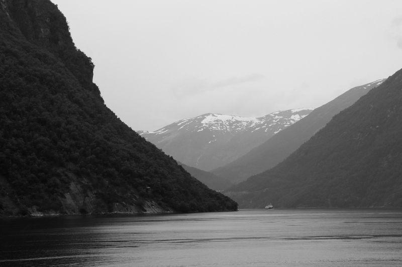 Un des virages un peu théâtral du Geirangfjord