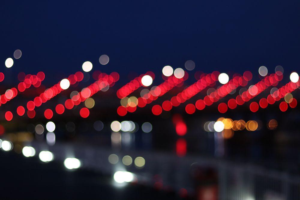 Le pont ADN à Singapour, en points lumineux