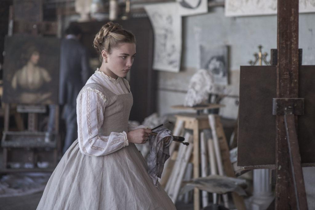 Amy March (Florence Pugh) dans son atelier de peinture