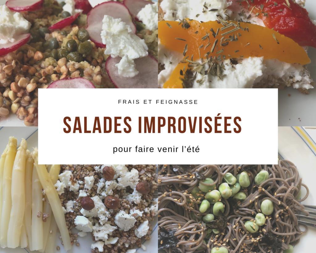 Salades improvisées pour faire venir l'été