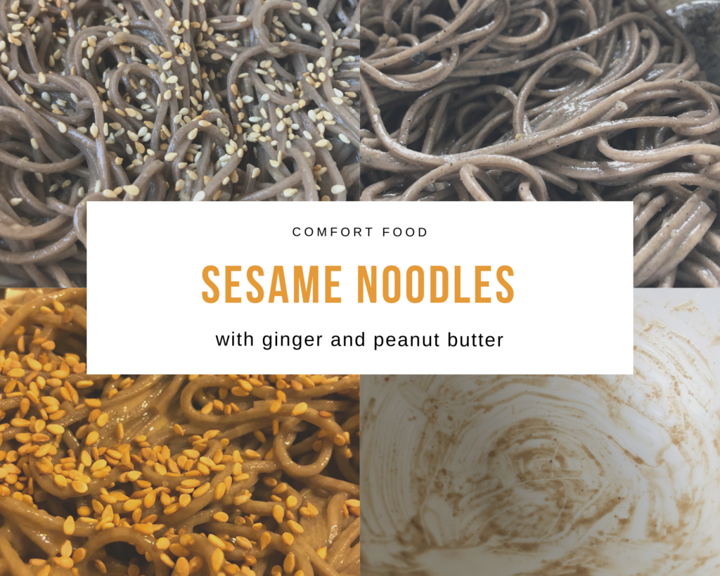 Sesame noodles wih ginger and peanut butter